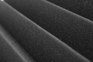 PU Foam corrugation, black
