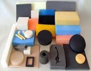 PU foam blocks of assorted colours