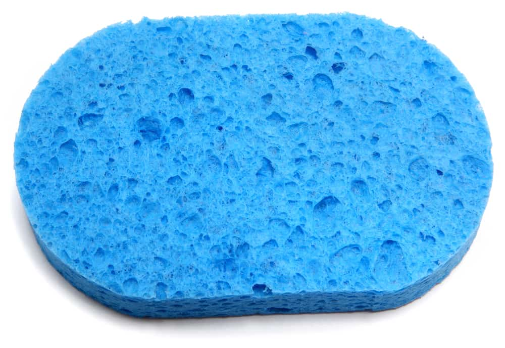 cellulose sponge oval shaped blue