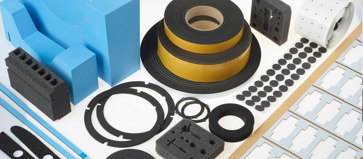 various types of foams includiing strips, sheets, rolls.